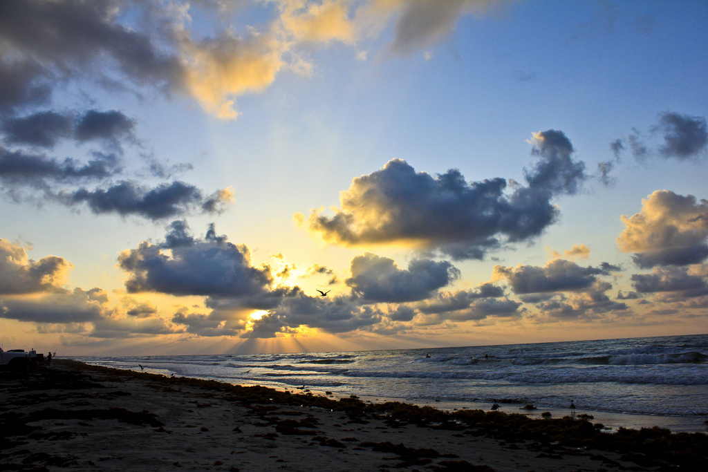 Sunrise over Galveston